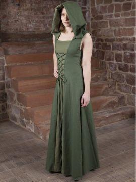 Mittelalterkleid Loris grün 36