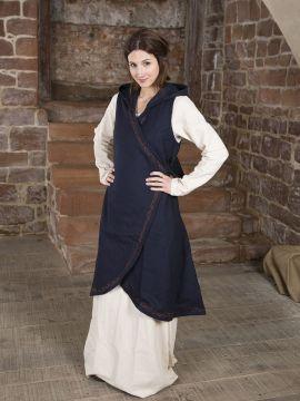 Wickelkleid Dala aus Wollfilz blau L/XL
