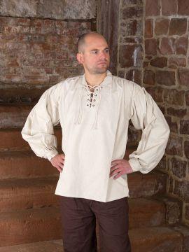Baumwollhemd mit Kragen natur M