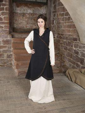 Wickelkleid Dala aus Baumwolle schwarz S/M