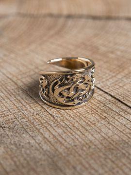 Keltischer Ring aus Bronze groß