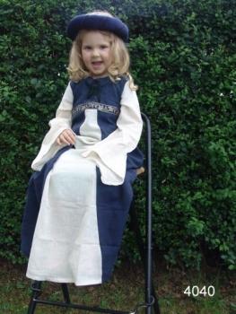 """Kinderkleid """"Piccolina"""" groß   blau/natur"""