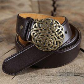 Ledergürtel Keltischer Knoten braun