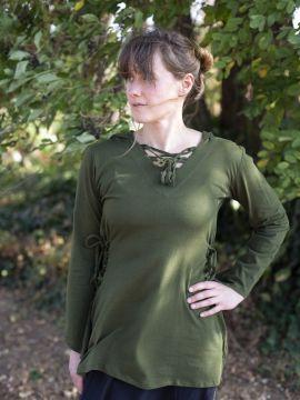 Bluse mit Zipfelkapuze grün