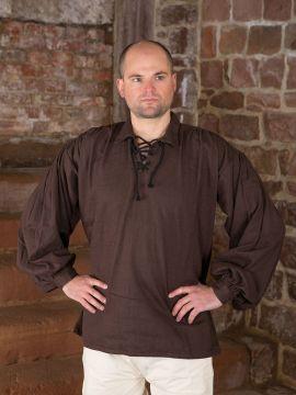 Baumwollhemd mit Kragen braun L