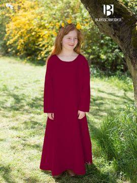Kinderunterkleid Ylvi rot 140