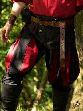 Hose Landsknecht schwarz-rot XL