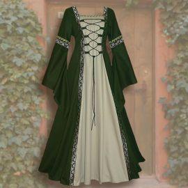 Kleid Iris grün-sand 36 - 42