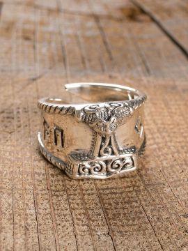 "Ring ""Thorshammer"" klein | Silber"