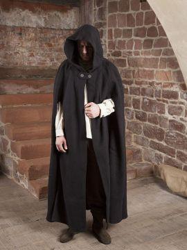 Umhang Walkloden in schwarz Länge ab Schulter 140 cm