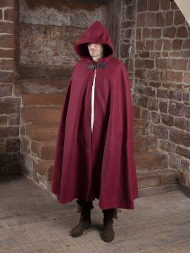 Wollumhang mit Drachenspange rot 161 cm