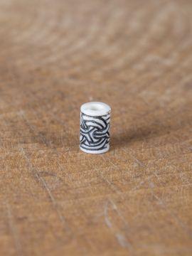 Knochenperle mit Wikinger-Knotenmuster einzeln