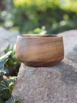 konische Schale aus Akazienholz