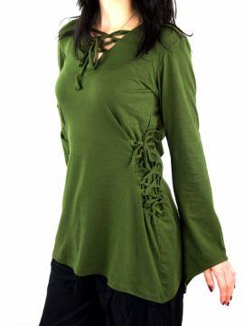 Bluse mit Zipfelkapuze grün XXL