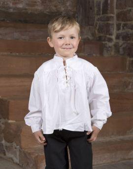 Stehkragenhemd für Kinder klein