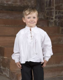 Stehkragenhemd für Kinder groß