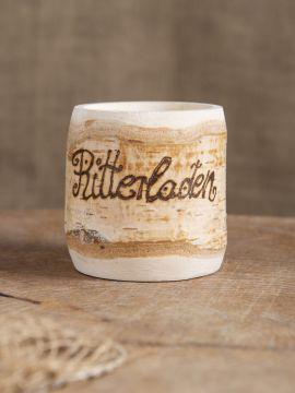 kleiner Becher aus Birkenholz mit Gravur bis 10 Zeichen