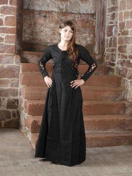 Kleid mit seitlicher Schnürung S | schwarz-rot