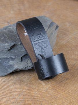 Trinkhornhalter mit keltischer Prägung schwarz