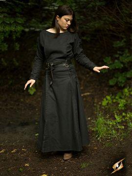 Kleid mit Schnürung schwarz L