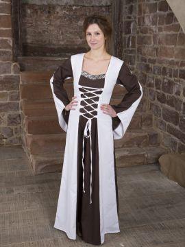 Baumwollkleid Miltraud braun-weiß 38