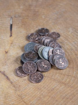 LARP-Münzen König mit Lederbeutel