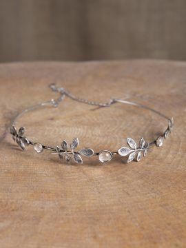 Diadem mit Zweigen und Kristall