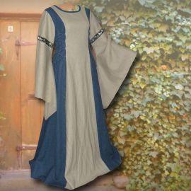 Kleid Frieda hellblau-sand 50-54