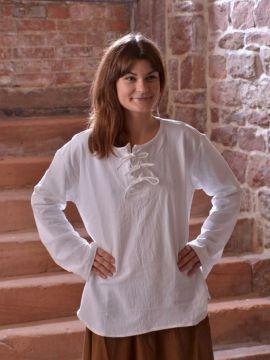 Bluse mit langen Ärmeln weiß XL