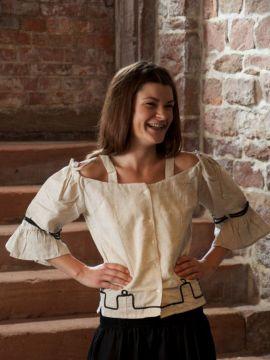 Bluse mit Stickerei, natur XL