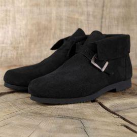 Historische Schuhe mit Schnalle 42 | schwarz
