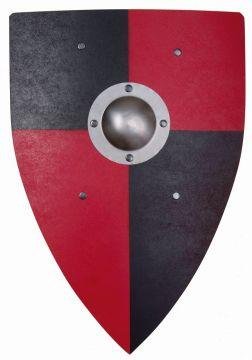 Normannenschild für Kinder rot / schwarz