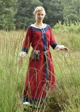 Mittelalterkleid Radegundis rot-blau
