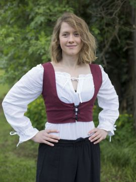 Unterbrustmieder Annabelle bordeaux