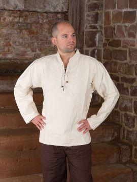 Winterhemd - Stehkragenhemd natur XL