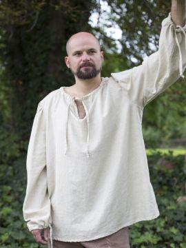 einfaches Leinenhemd L | weiß