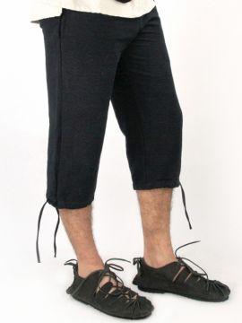 Einfache Kniebundhose schwarz M