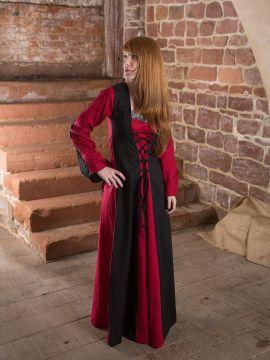 Baumwollkleid Miltraud schwarz-rot 44