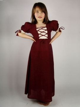 Leichtes Kinderkleid rot XXS