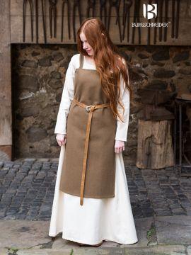 Wikingerkleid Jodis - Wolle, herbstgrün M