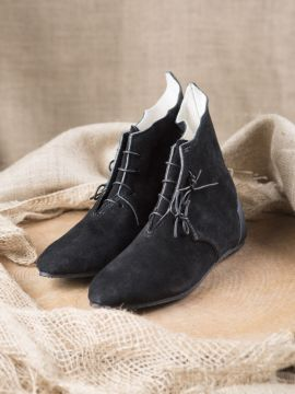 Mittelalter Halbstiefel mit Gummisohle schwarz 40