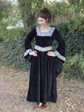 Kleid Burgund in schwarz