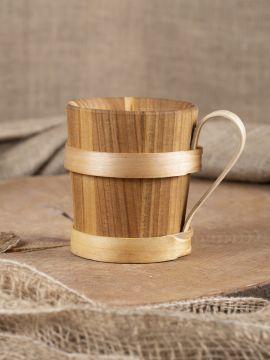 Bierkrug aus Holz