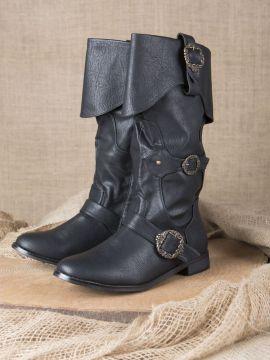 Piratenstiefel schwarz 45