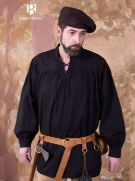 Schnürhemd Störtebecker, schwarz S