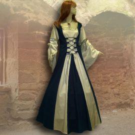 Kleid Sybille marineblau-sand 44 - 48