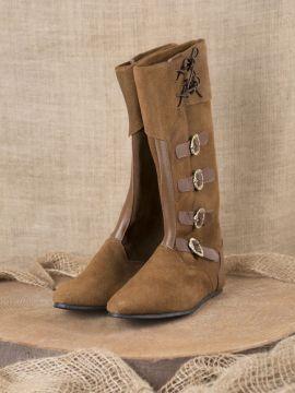 Mittelalter Stiefel mit Schnallen braun 39