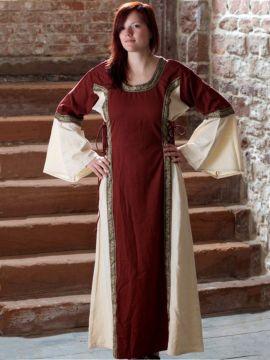 Kleid Klarissa rot-natur XS