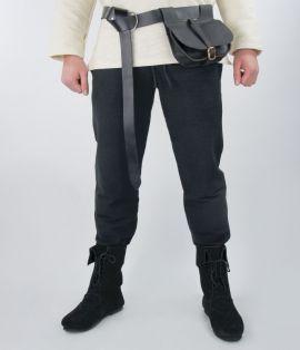 Mittelalterhose aus grober Baumwolle schwarz XXL