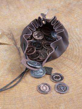LARP-Münzen Drachen mit Lederbeutel